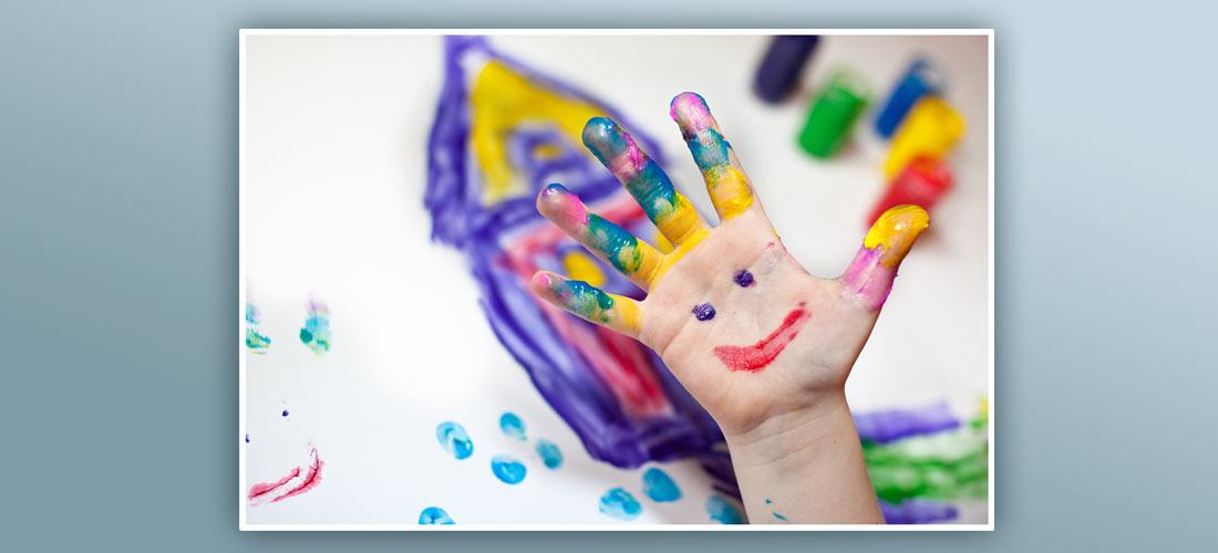 Stoff-Fingerfarben – malen, matschen, klecksen, rühren!